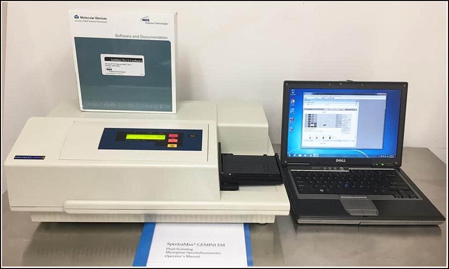 Molecular Devices Gemini EM Fluorescence Microplate Reader w WARRANTY