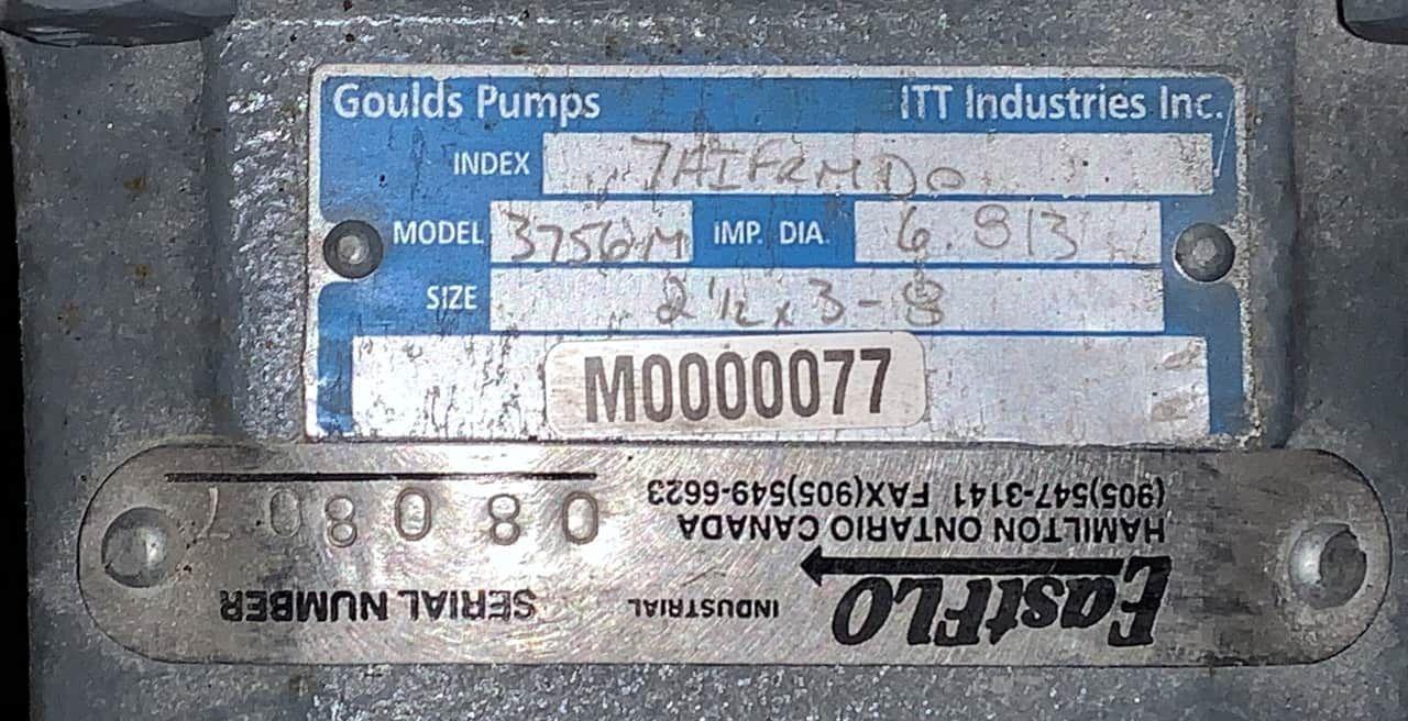 Gould Boiler Feed Pump