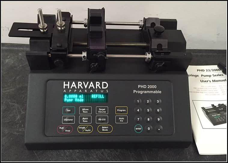 Harvard PHD 2000 Infusion & Withdrawal Push Pull Syringe Pump w WARRANTY