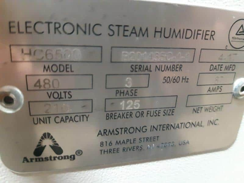 Armstrong International HumidiClean HC6500 Humidifier