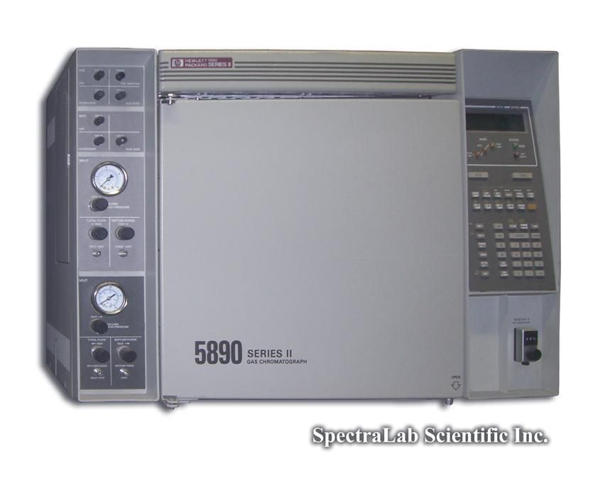 HP 5890 II GC with FID and NPD, Dual Split/splitless Inlets