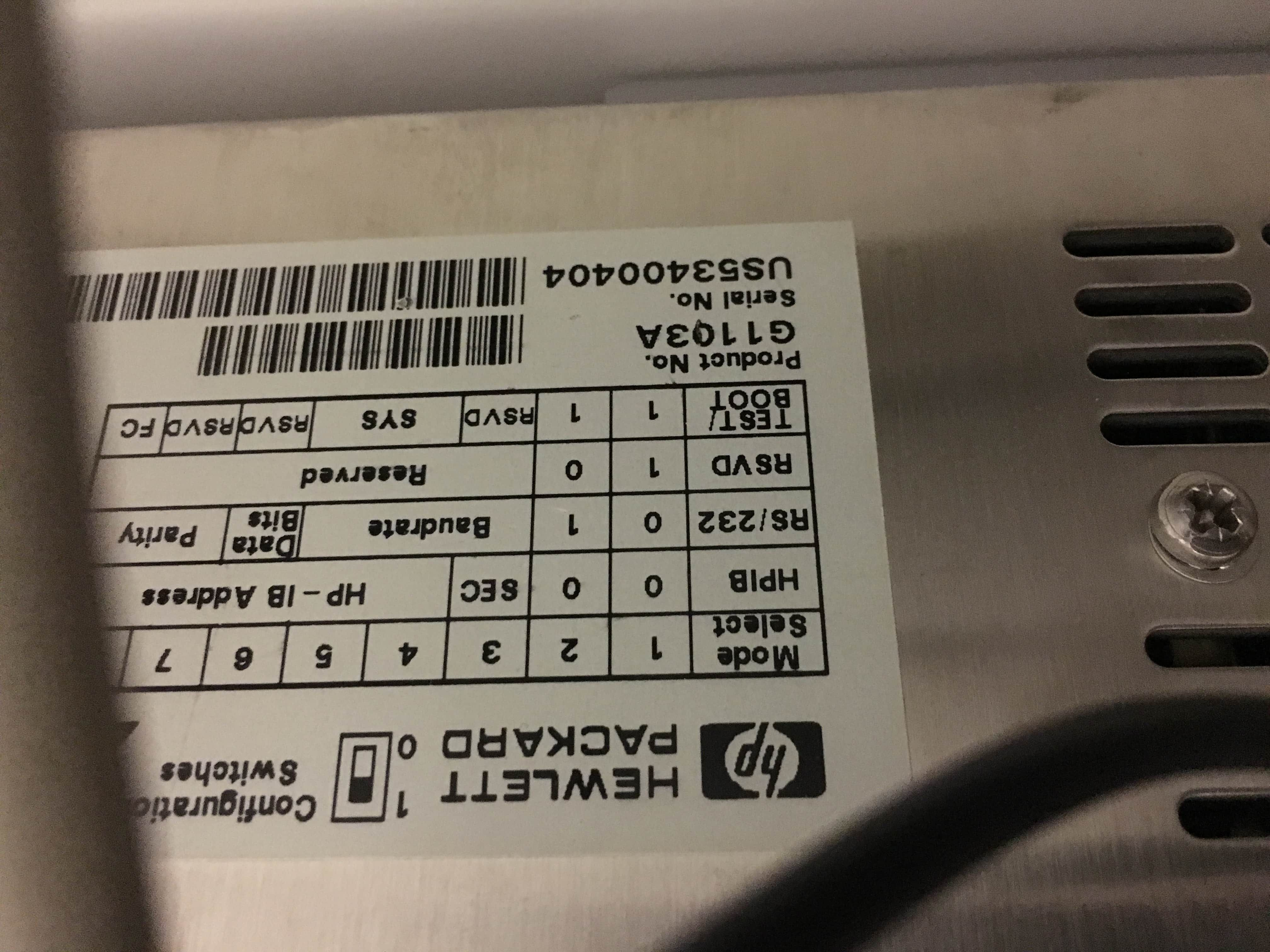 HP/Agilent 8453 UV/VIS with computer - just out of a lab