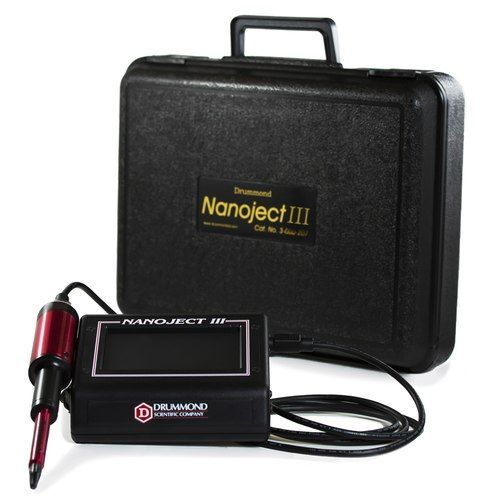 Nanoject III w/Universal Adapter, 100-240 Volt Pwr. Supply