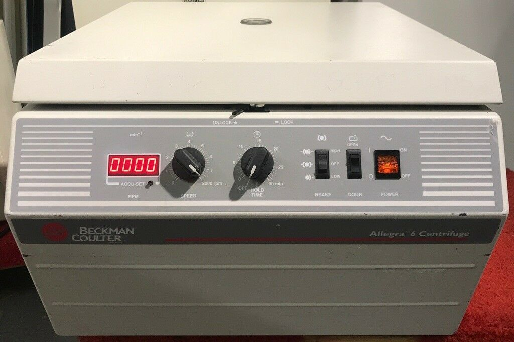 Beckman Coulter Allegra 6 Centrifuge w/ Rotor, Buckets & Inserts