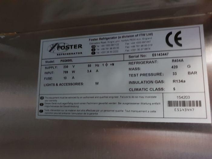 Foster PSG600L Refrigerator