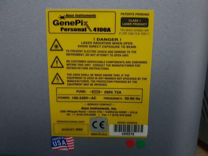 2003 Axon GenePix Personal 4100A Microarray scanner
