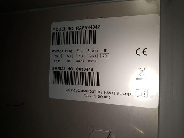 Labcold Advanced RAFR44042 Double door Refrigerator