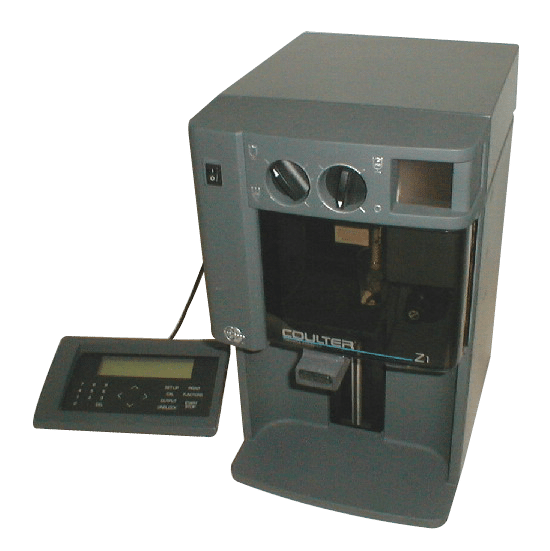 Beckman Coulter Z1 Dual Particle Counter