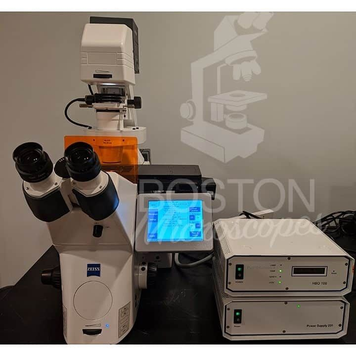 Zeiss Axio Observer Z1 Inverted Phase Contrast Fluorescence Microscope