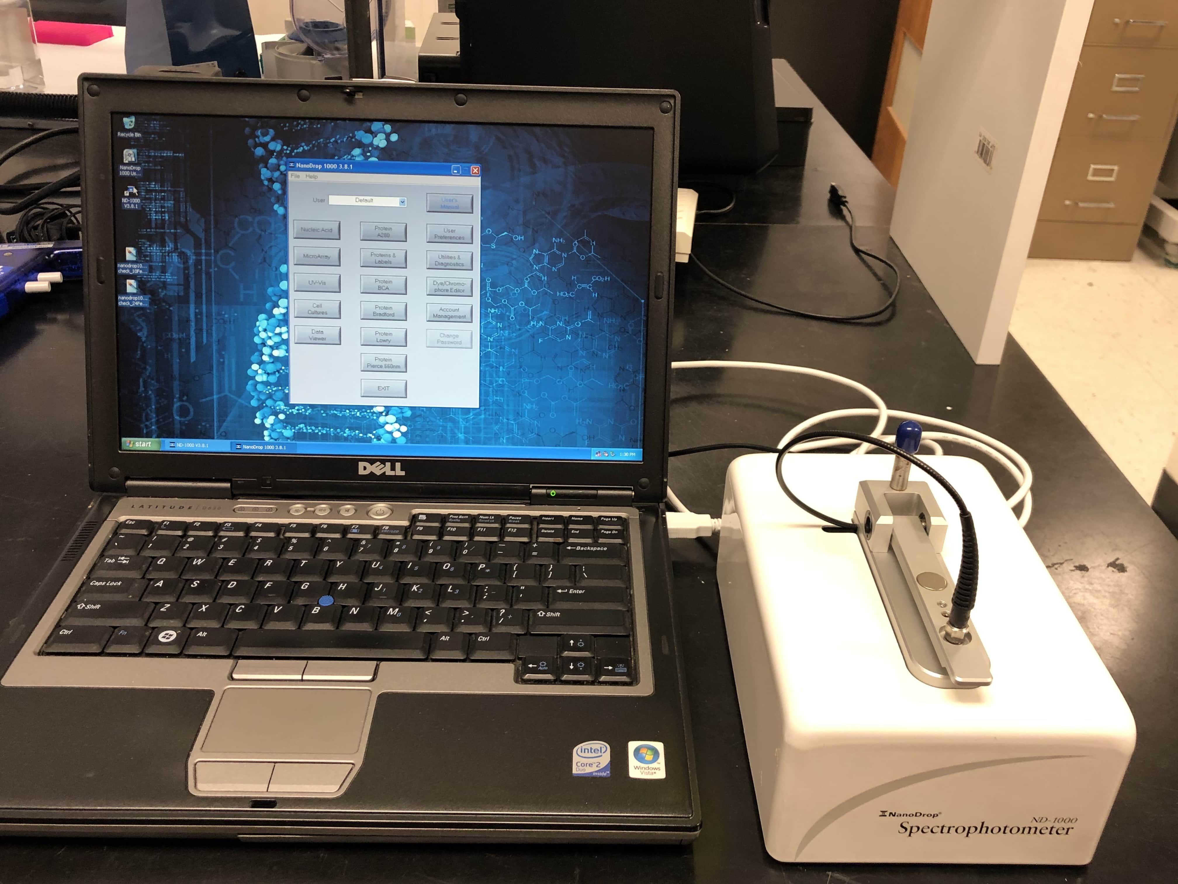 ThermoFisher NanoDrop 1000 UV/VIS Spectrophotometer System-New Calibration Testing!