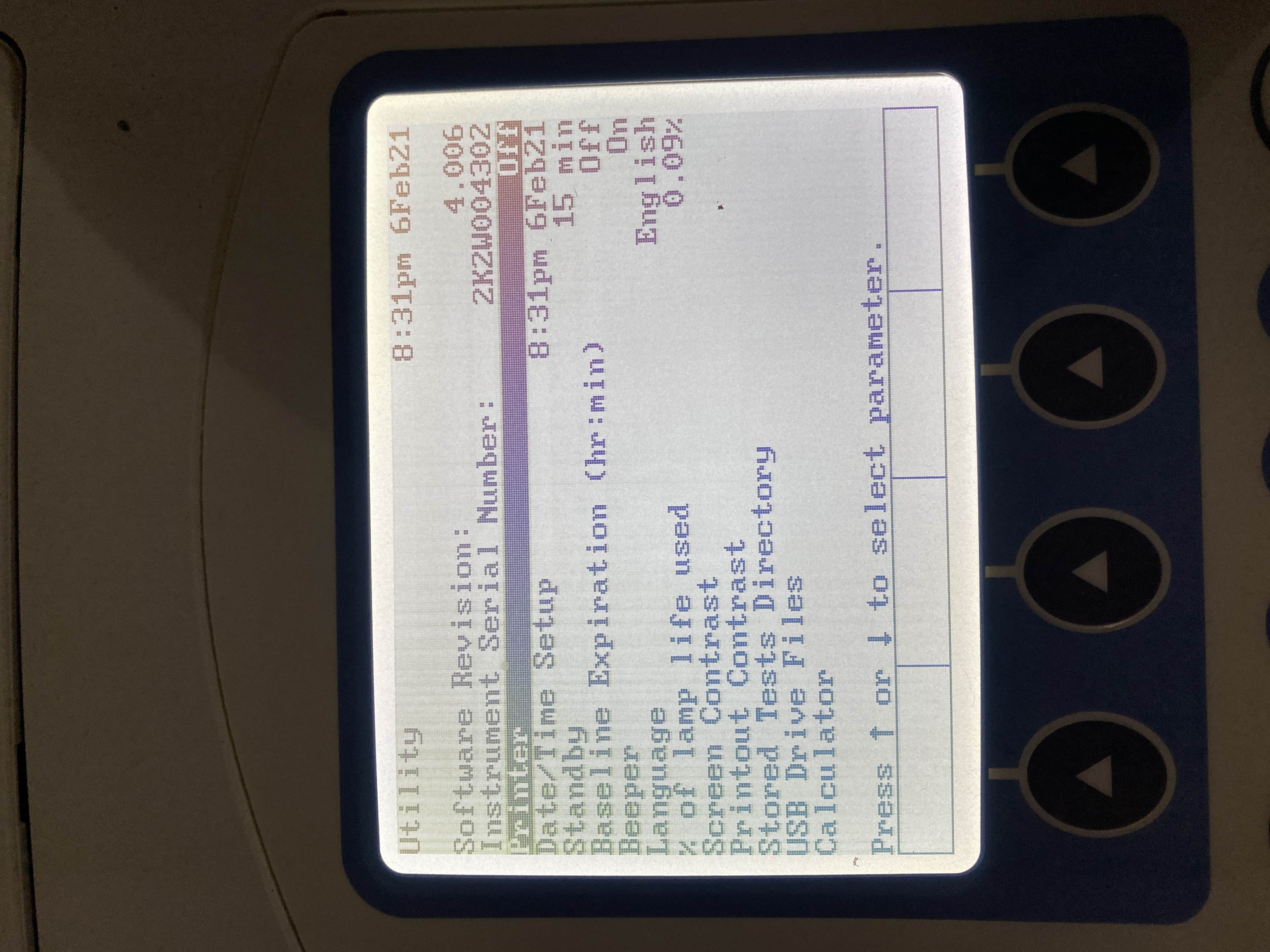 Thermo Fisher Biomate 3S UV-VIS spectrometer with 6 cell option