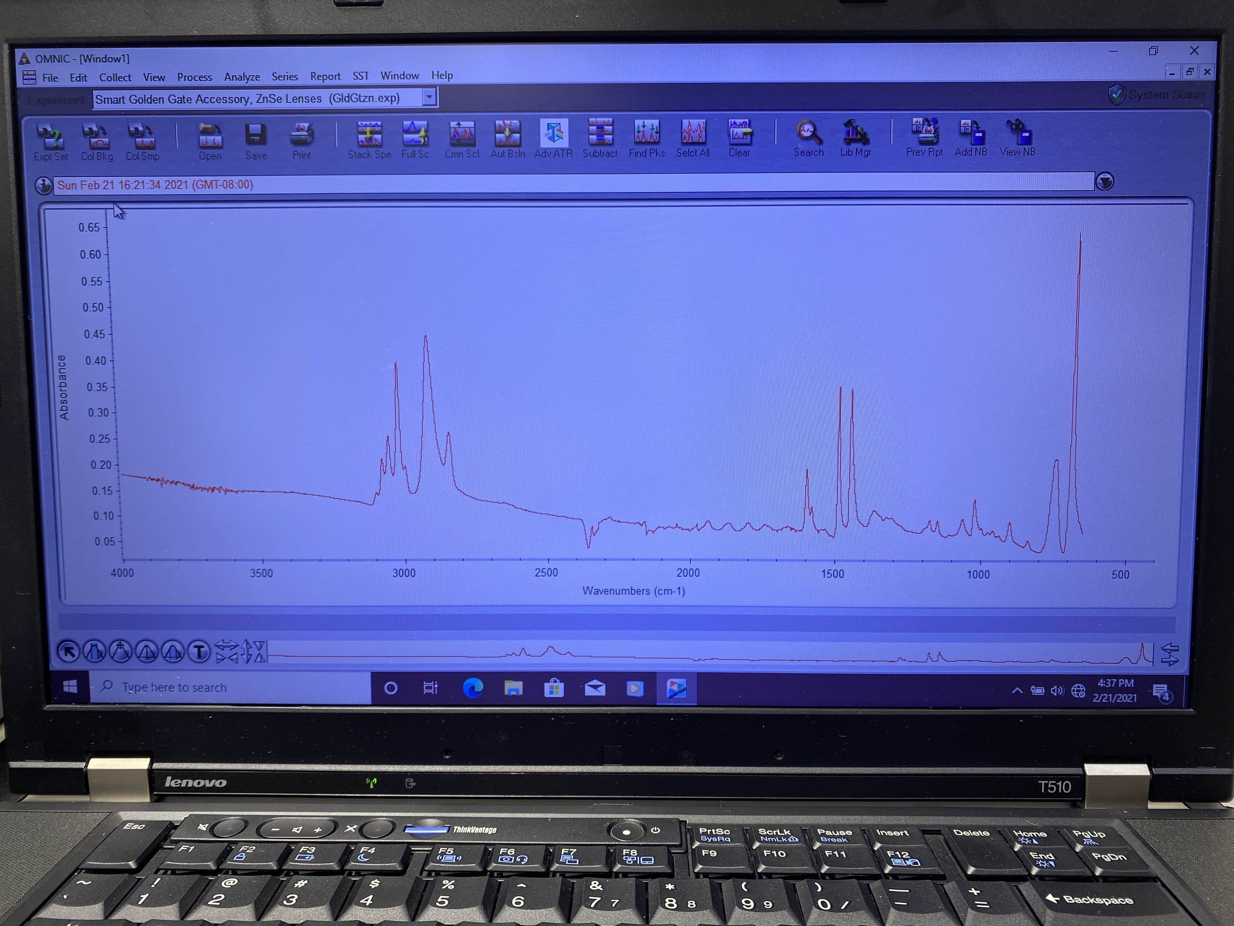 Thermo Nicolet IS10 FTIR with Heated Diamond ATR Accessory