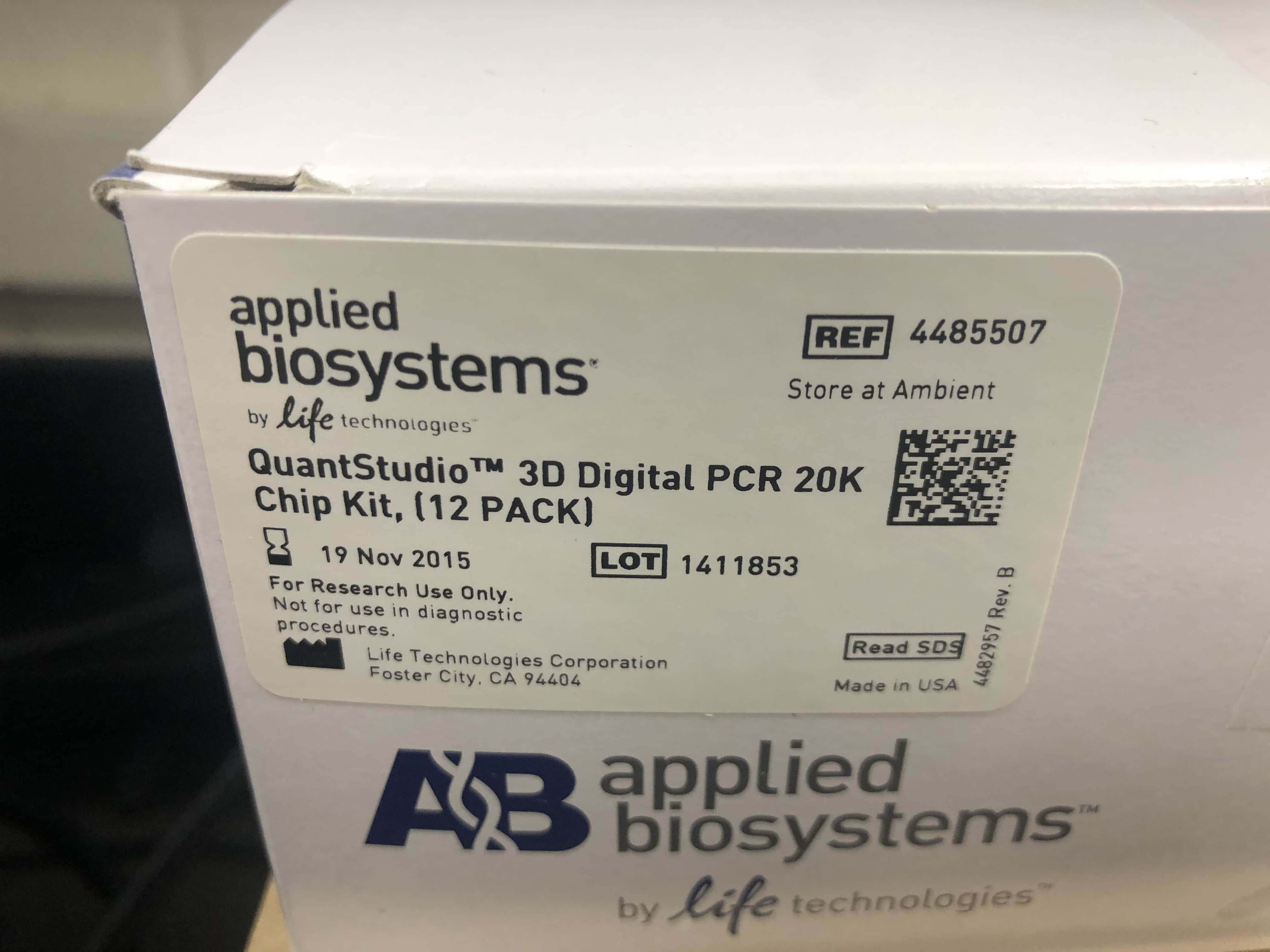 ABI QuantStudio 3D Digital Droplet PCR System- Complete Package- Like New Condition