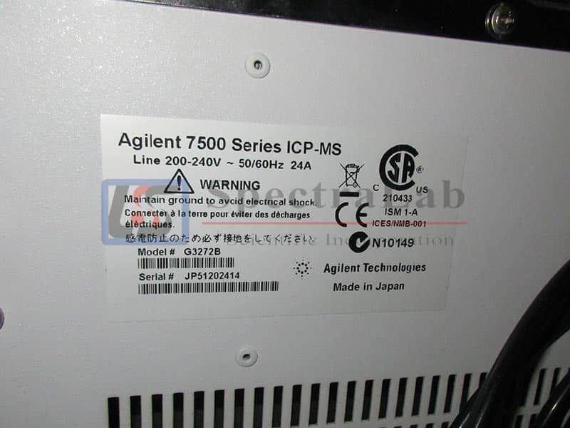 Agilent 7500cx Series ICP-MS G3272B