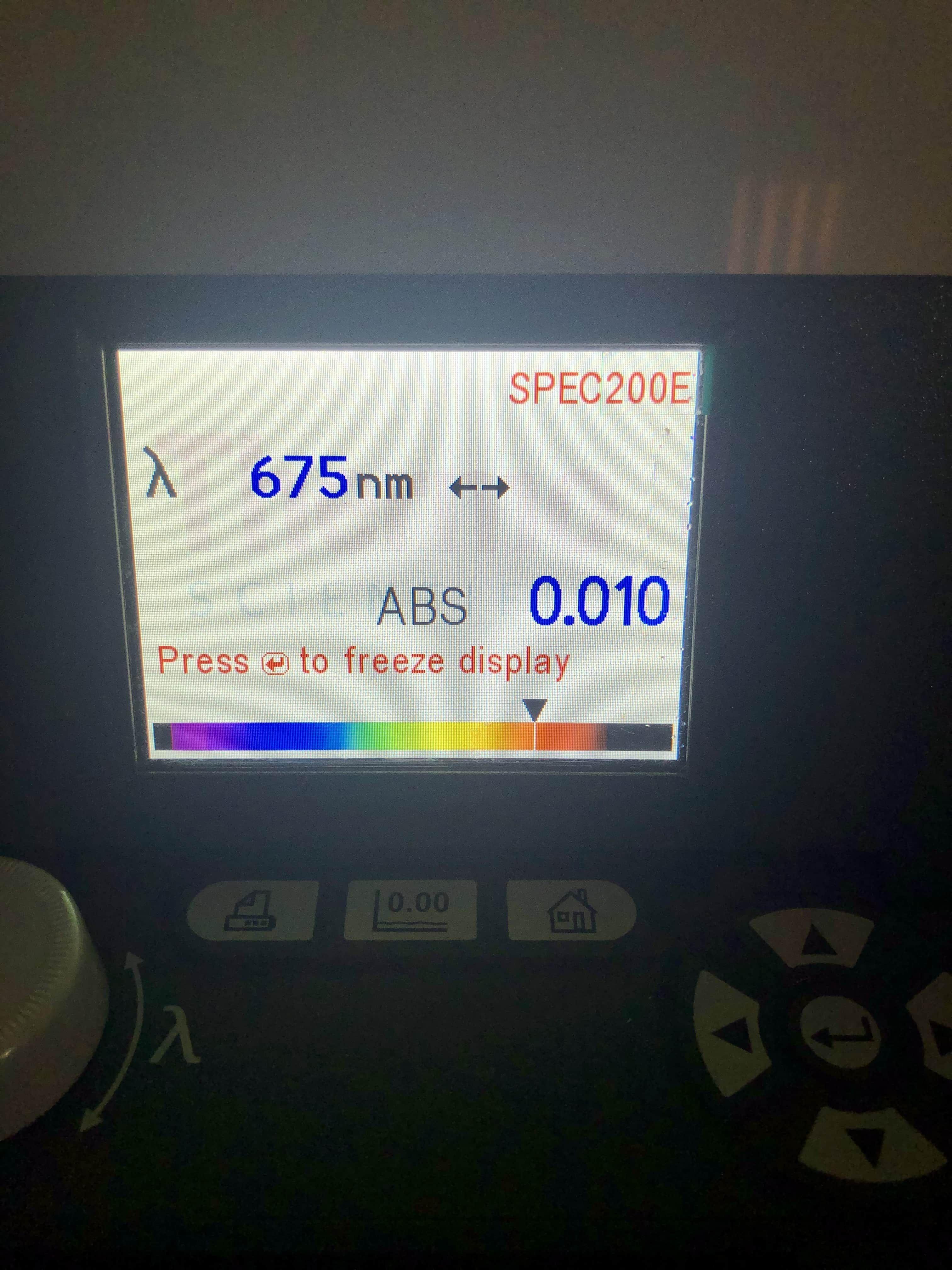 Spectronic 200E Vis Spectrophotometer