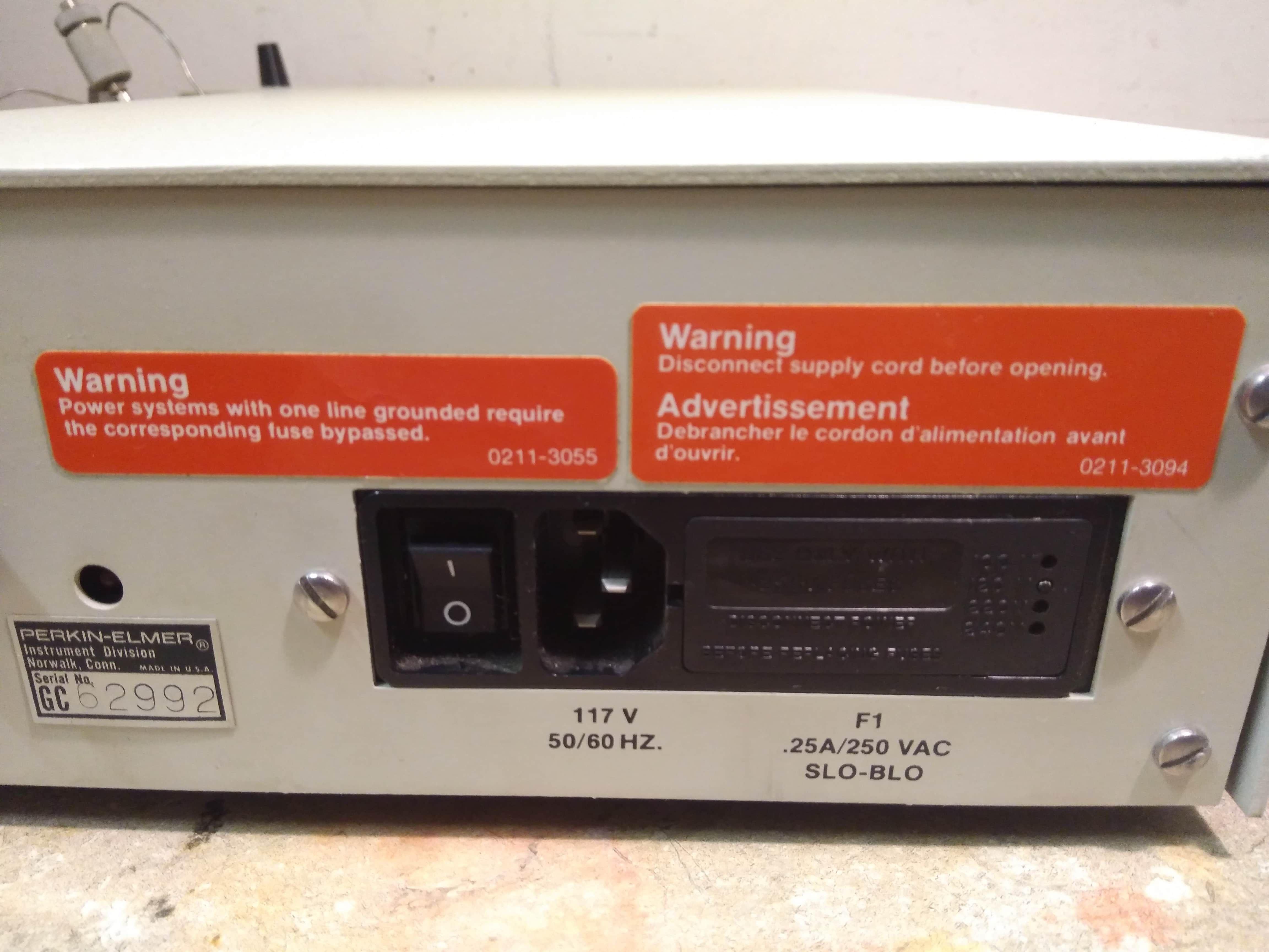 Perkin Elmer TriDet UV Fluorescence Conductivity Controller