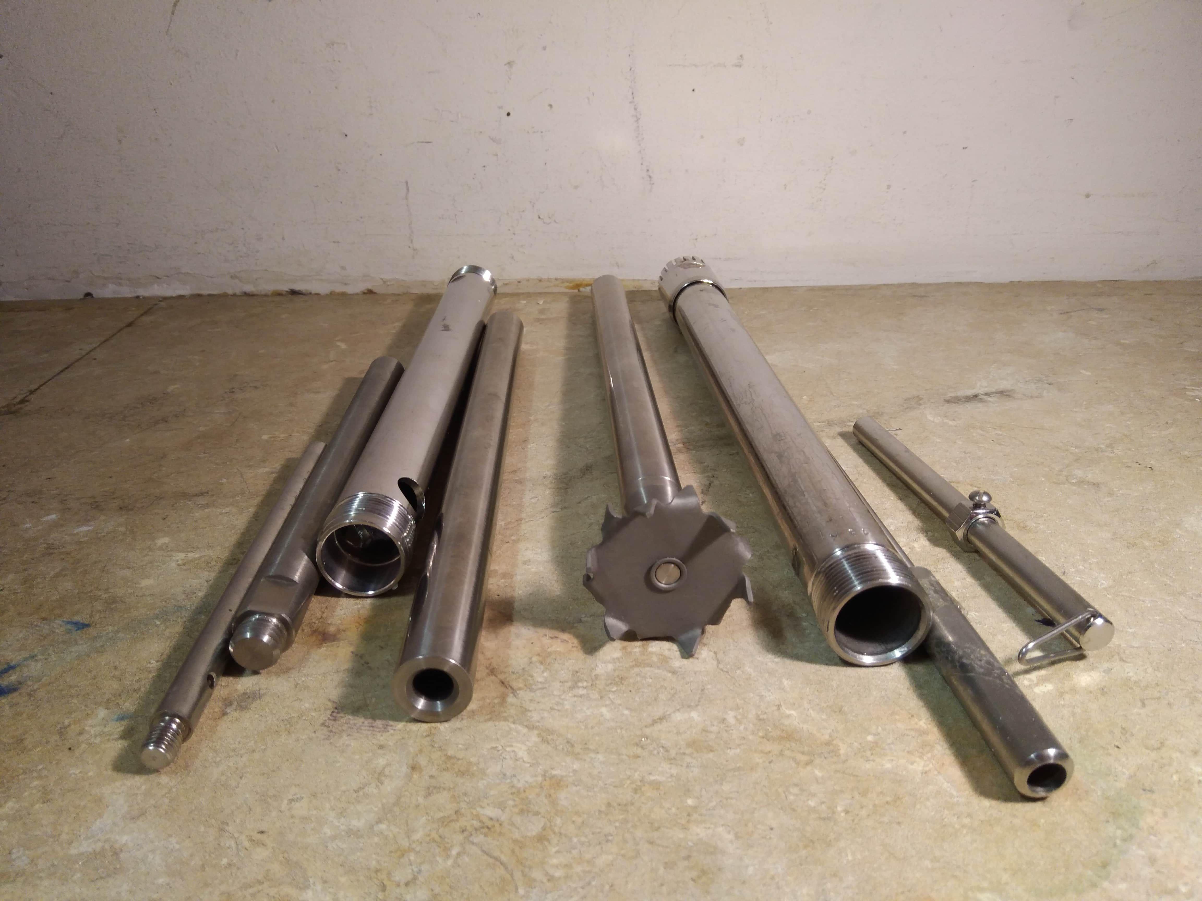 Lot Various Stainless Steel Homogenizer Aggregate Dispensers
