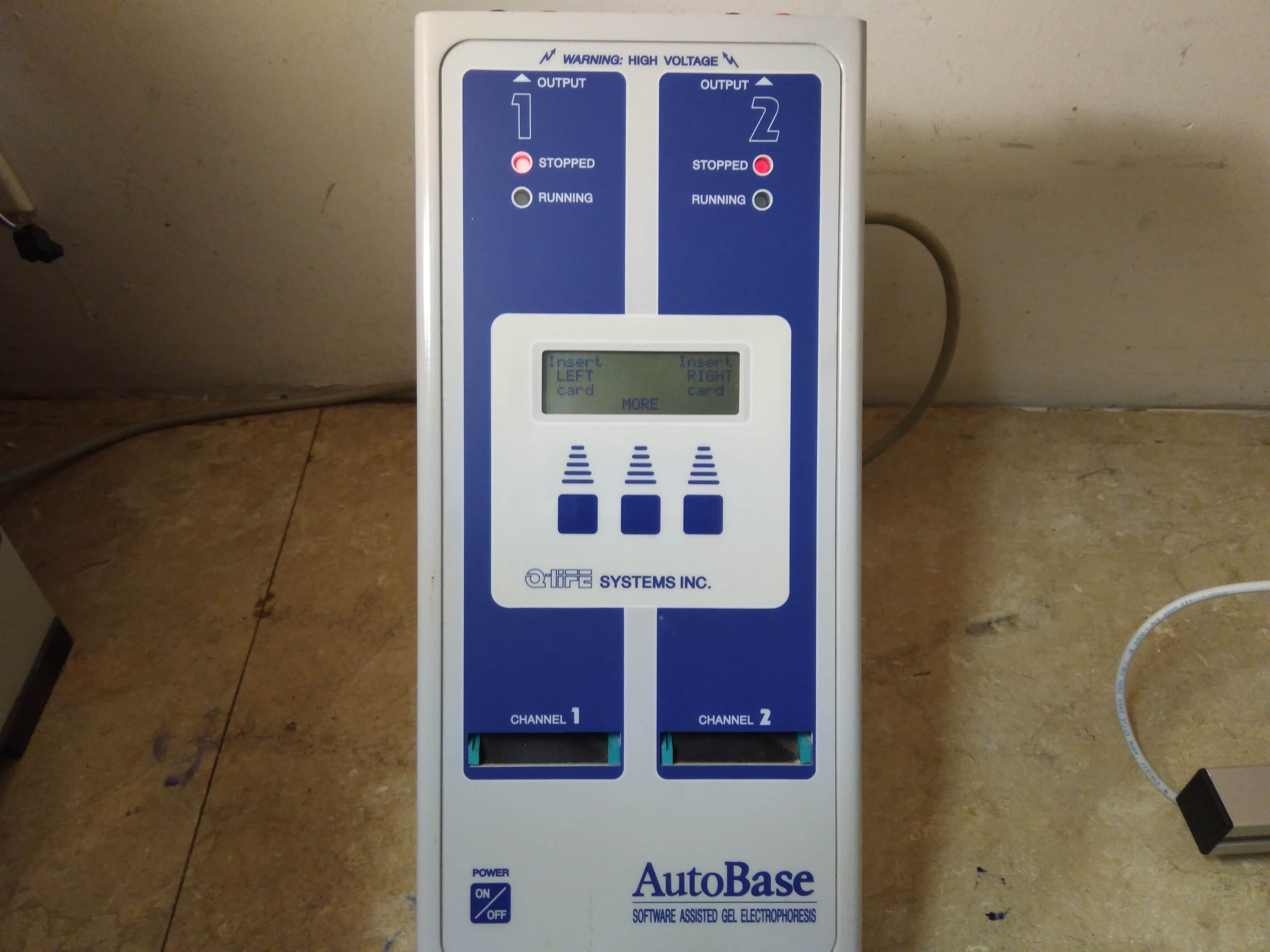 Autobase Power Supply Software Assisted Gel Electrophoresis