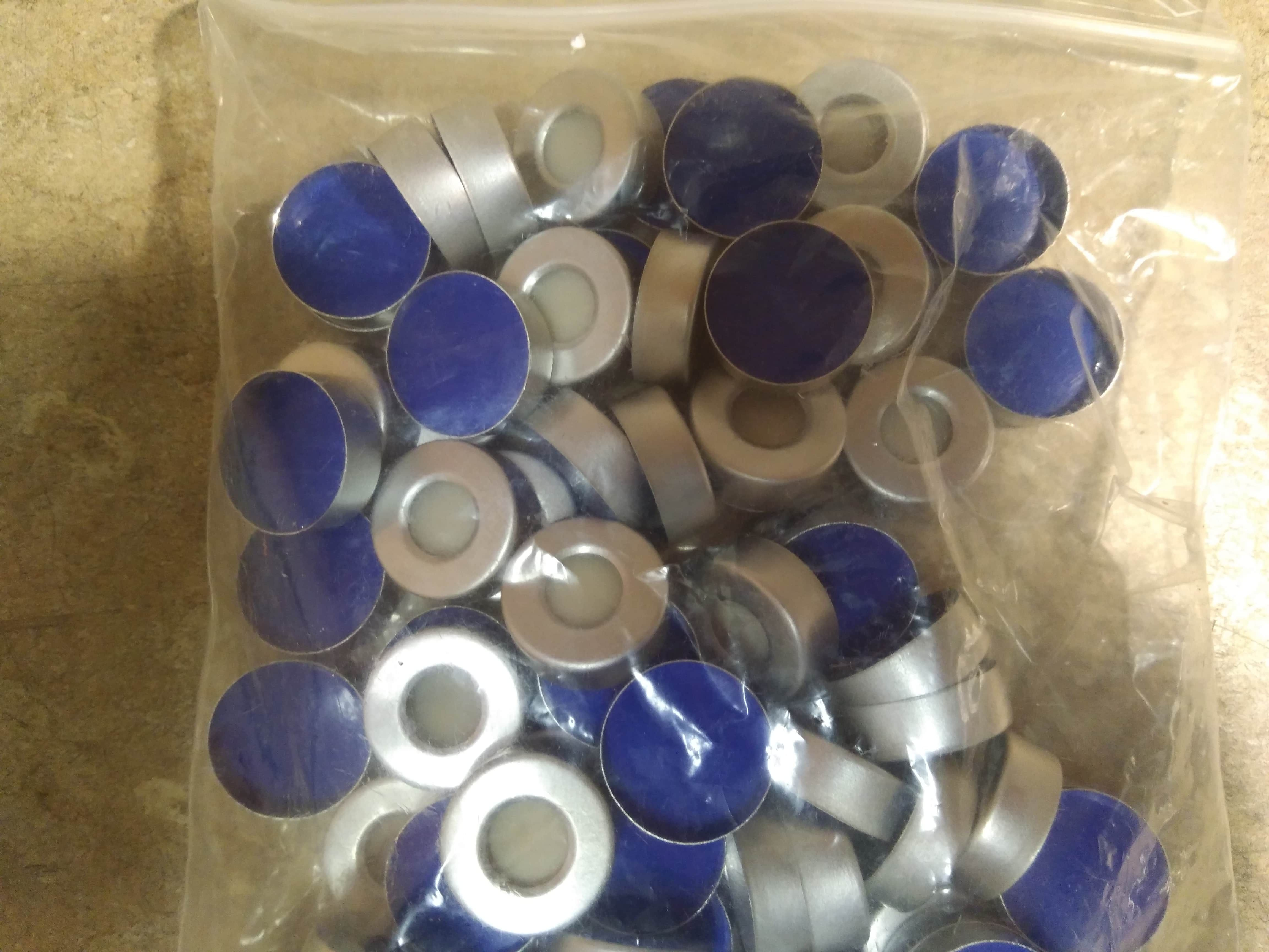 NEW 100 Biotage Caps and Septa Septum 352298 for Microwave Reaction Vial