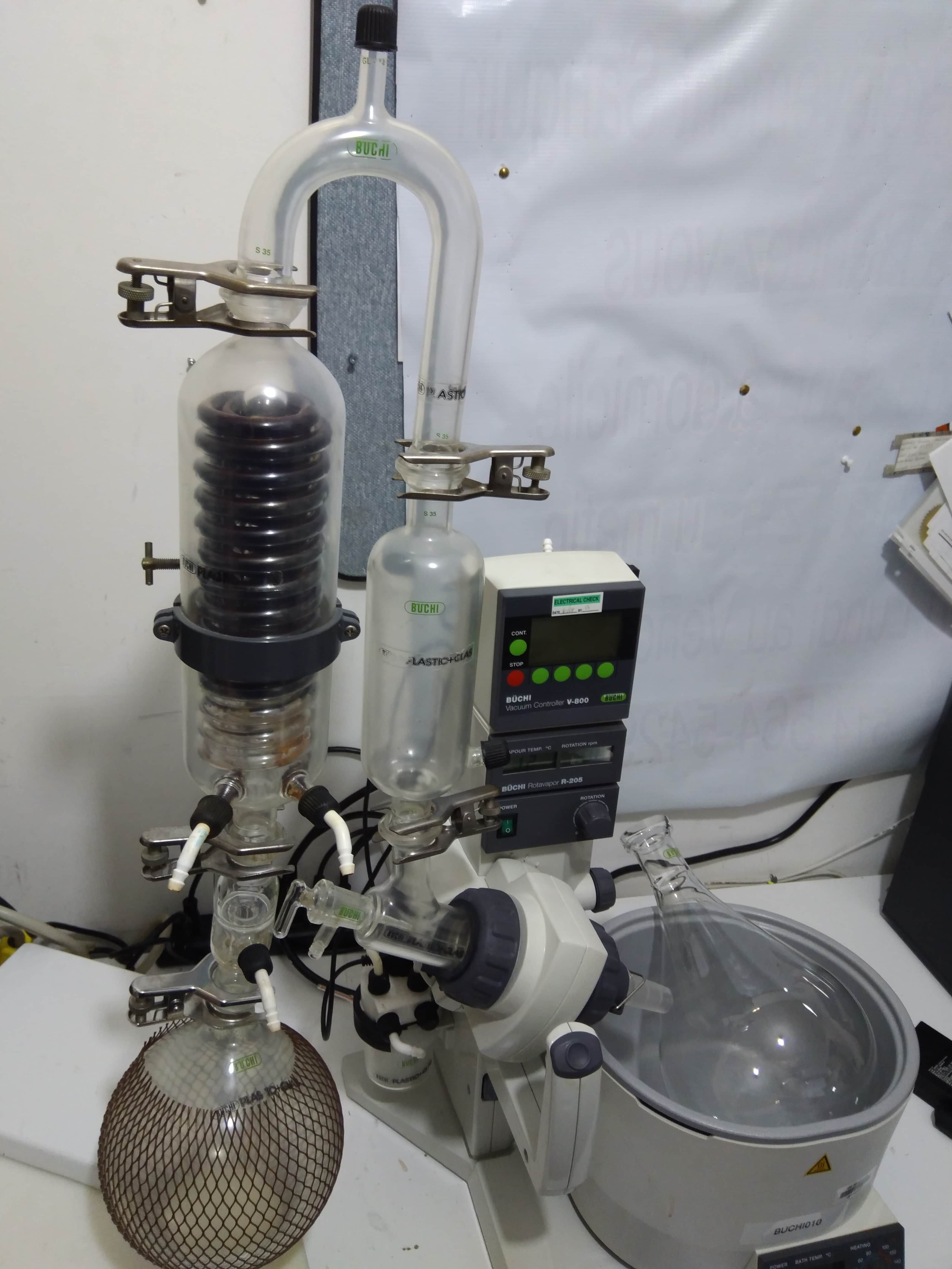 Buchi Rotavapor Evaporator R205 V800 Vacuum Controller Water Bath Glassware