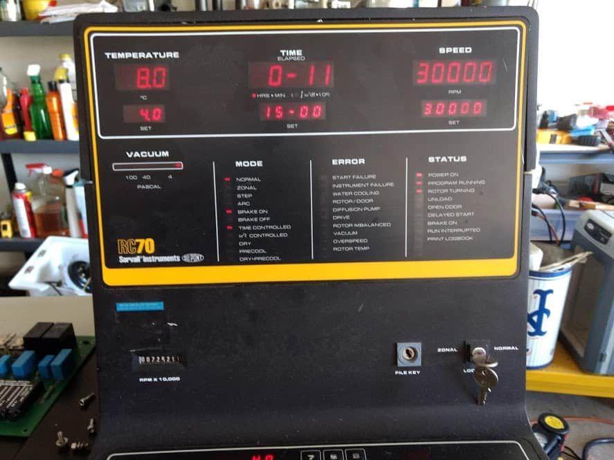 RC 70 ultracentrifuge