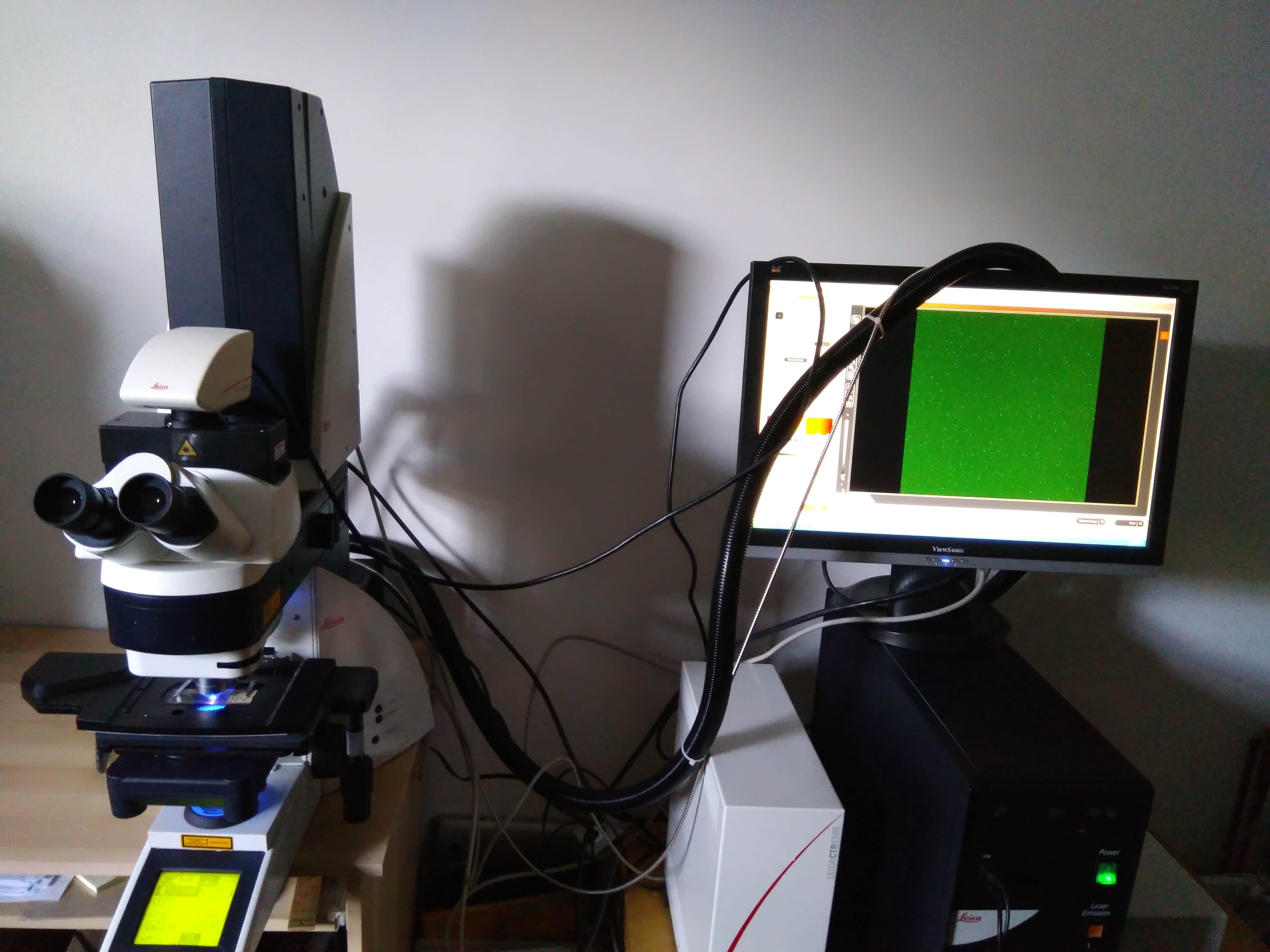 Leica DM 5500 Q Confocal Spectral Detector TCS SPE Laser Scanning Microscope