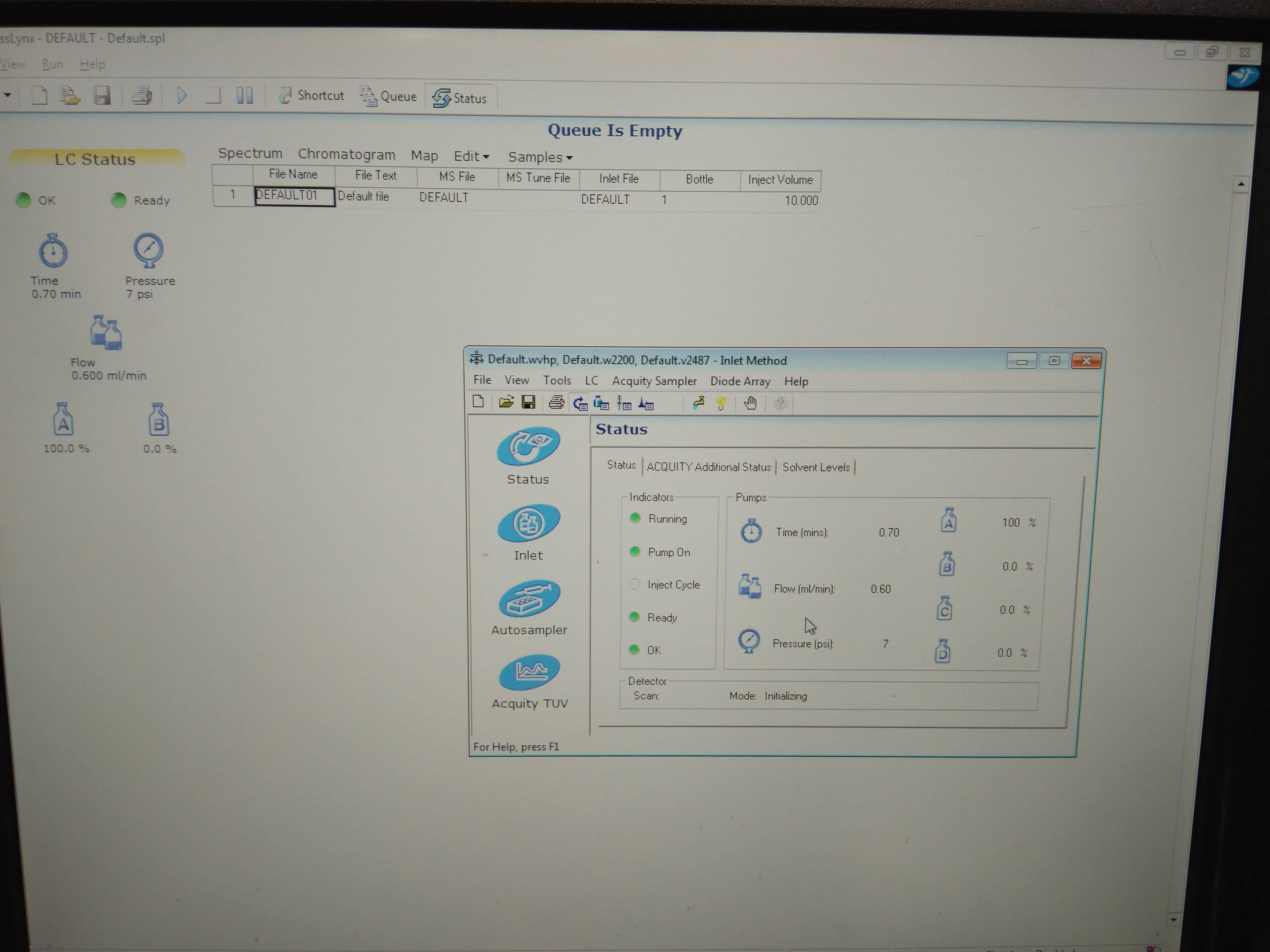 Waters MassLynx 4.1 UPLC Acquity HPLC Software
