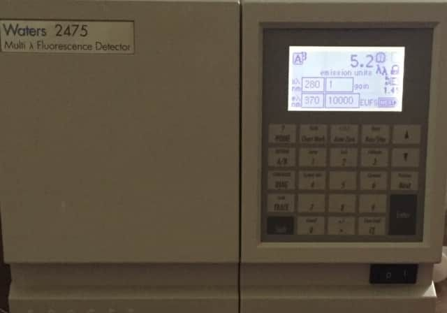 WATERS 2475 HPLC MULTI WAVELENGTH FLUORESCENCE  DETECTOR