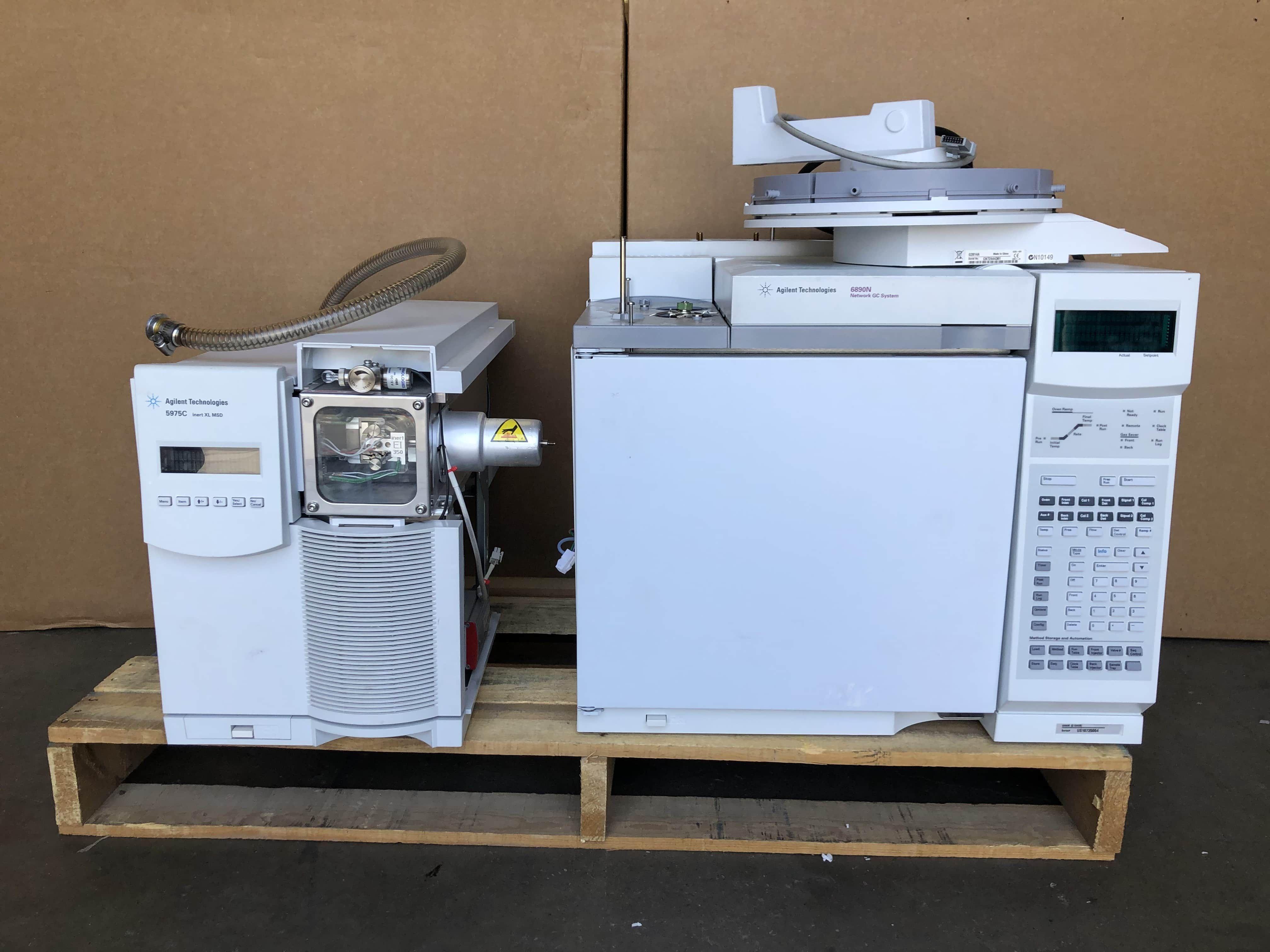 Agilent 5975C Inert XL MSD 6890N Network GC System 7683Series Autosampler G2614A