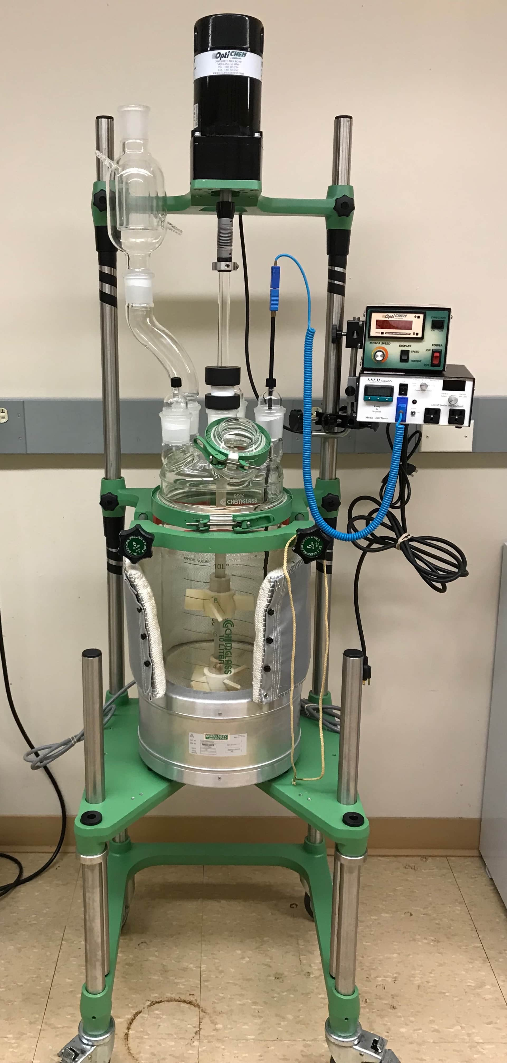10L Chemglass Unjacketed Process Reactor