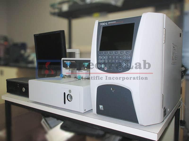 Shimadzu TOC-L Analyzer with Shimadzu SSM-5000A Solid Sample