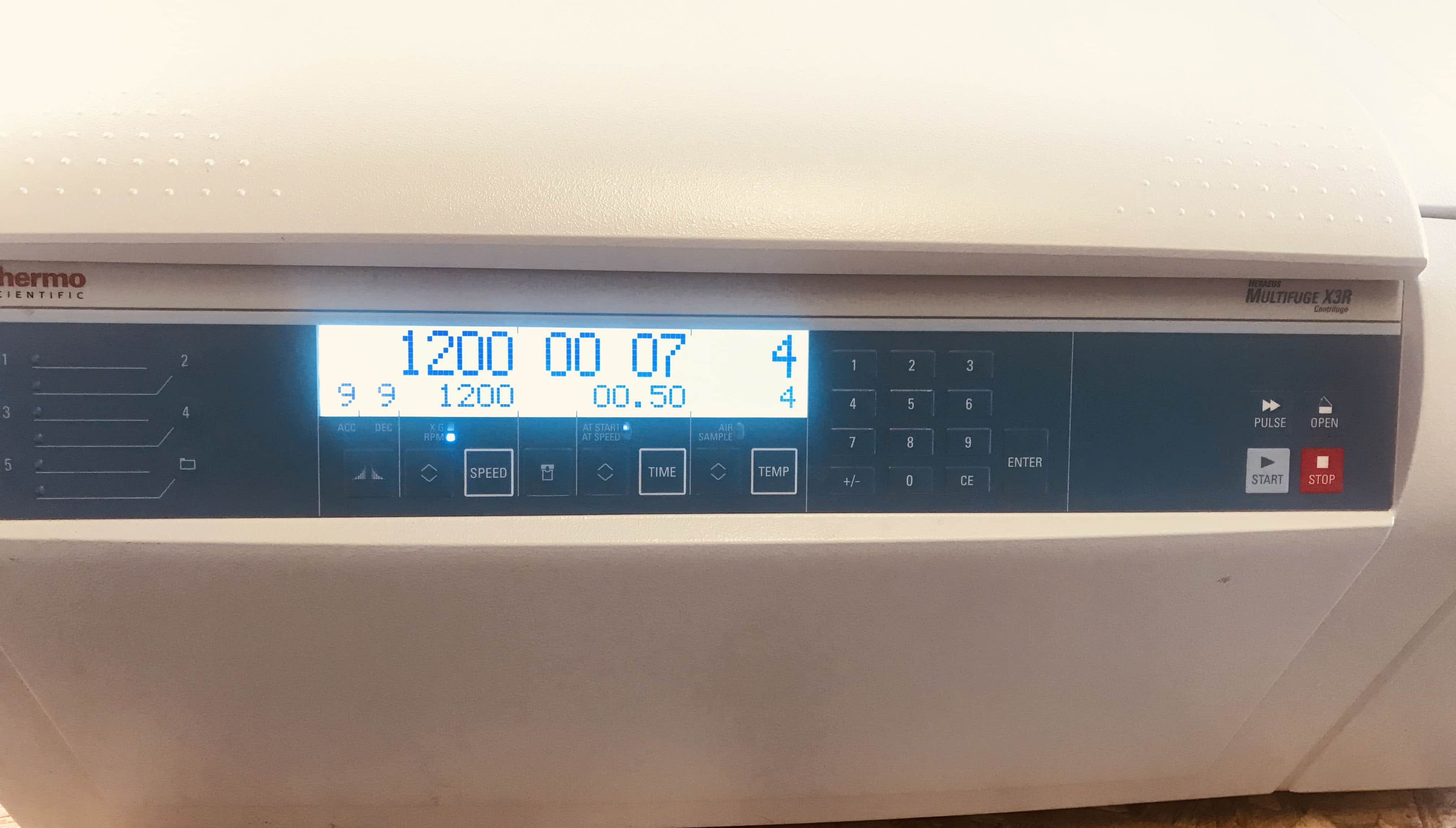 ThermoFisher Scientific Hereaus Multifuge X3R Refrigerated Centrifuge with Rotor and Adapters