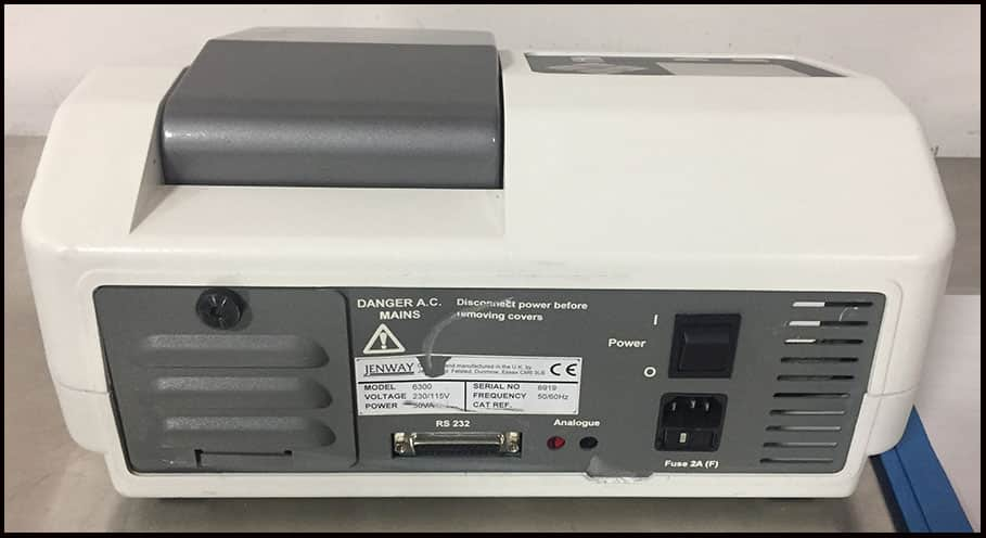Jenway 6300 Visible Vis Spectrophotometer 320-1000nm w WARRANTY