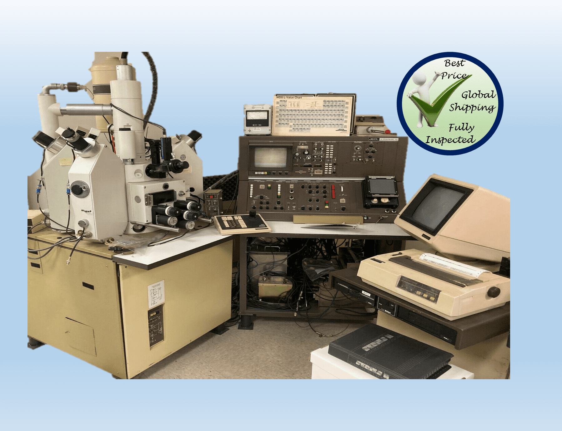 JEOL JXA-733 Electron Probe X Ray Microanalyzer electron microscope + ACCESS.