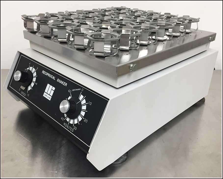 Lab-Line Reciprocal Linear Shaker w 100ml Flask Clamps WARRANTY