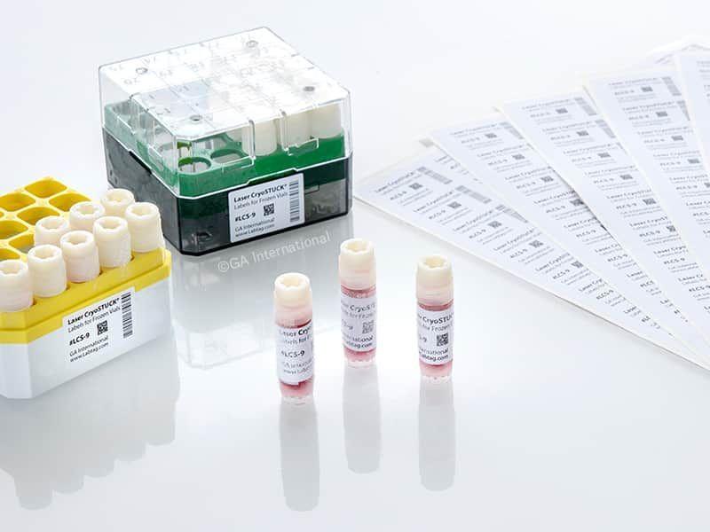 Laser CryoSTUCK®- Cryogenic Labels for Frozen Vials & Tubes (For Laser Printers - Sheet Format)