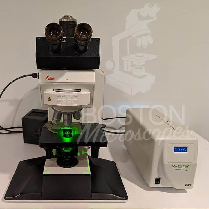 Leica DMR Trinocular Fluorescence (8 Position) Upright Microscope