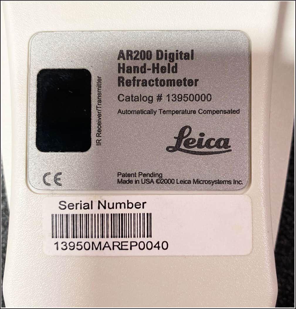 Leica AR200 Automatic Digital Refractometer w WARRANTY