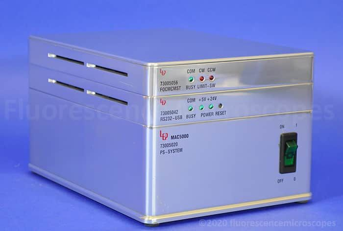 LEP MAC5000 Microscope Motorized Stage Stepper Motor Controller, Joystick, Power