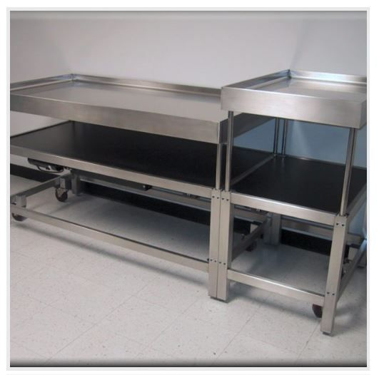 Table Model A-107P-SS–Stainless SteelWorkbench w/ Hydraulic Lift