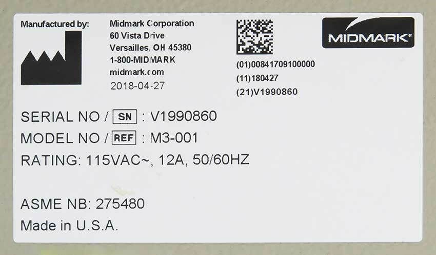 2018 Midmark M3 Ultrafast Autoclave - Refurbished