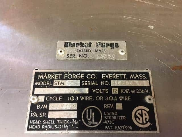 Market Forge STM-E still in the lab