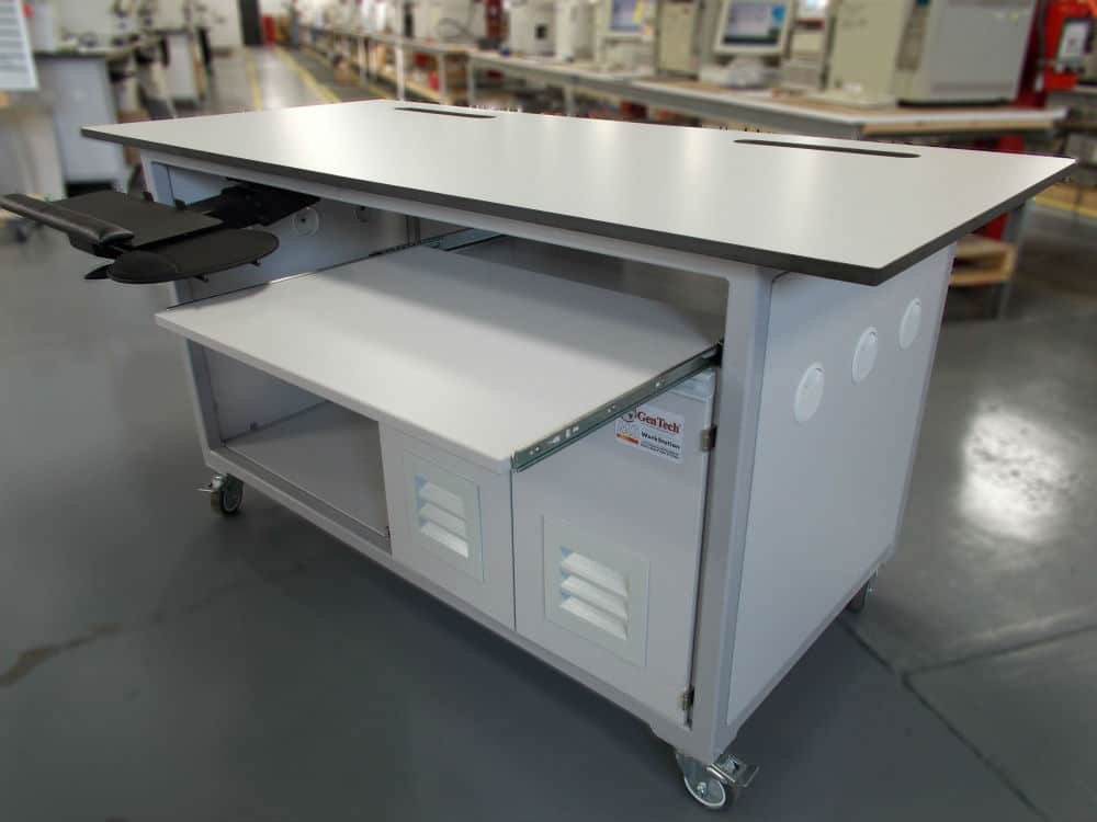 Mass Spec Workbench with Dual Pump Noise Enclosure