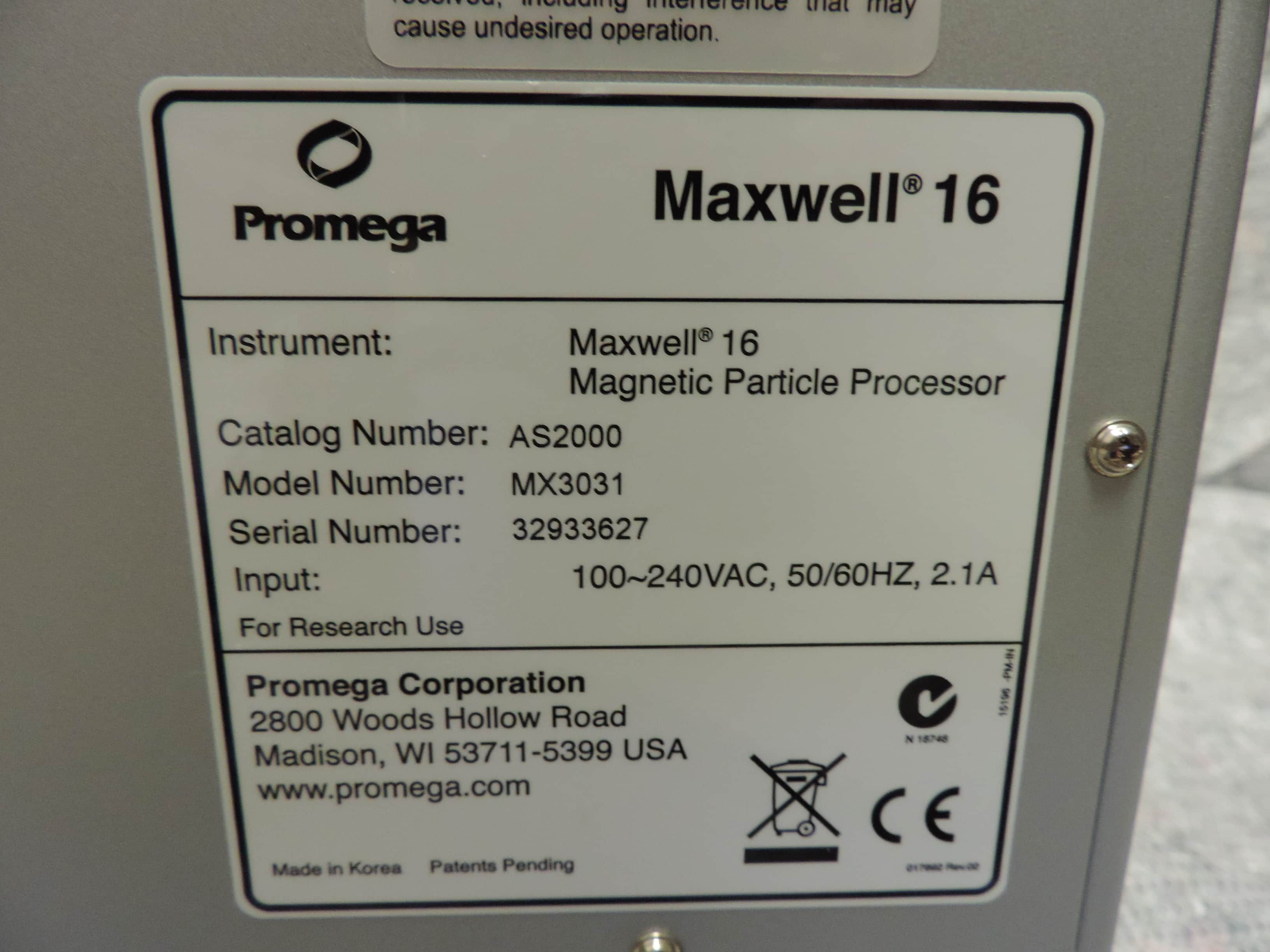 Promega™ Maxwell 16® Magnetic Automated Purification System