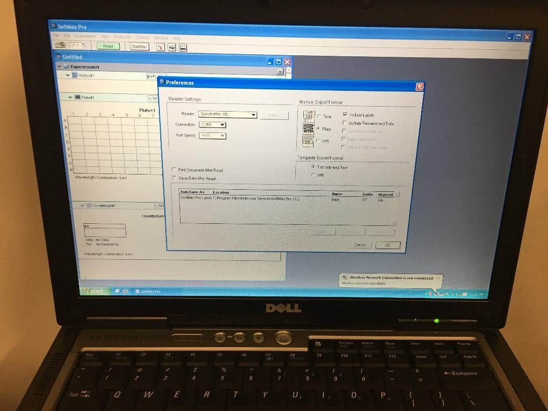 Molecular Devices M2 with laptop and softmax - Excellent condition