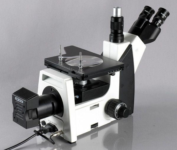 AmScope 50X-1250X Trinocular Metallurgical Microscope