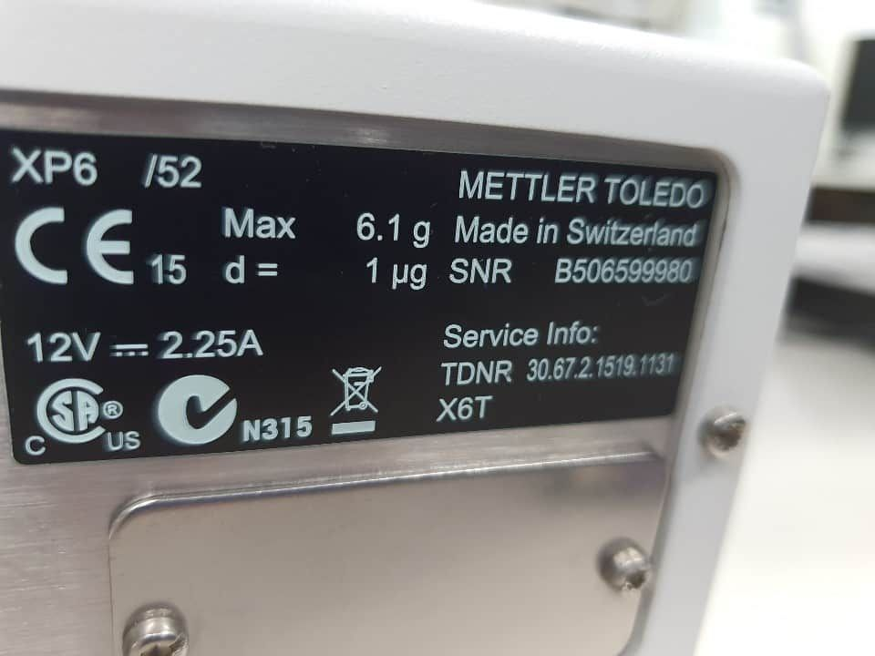 For Sale Mettler Toledo XP6  0.001mg 0.000001g Digital Analytical Balance