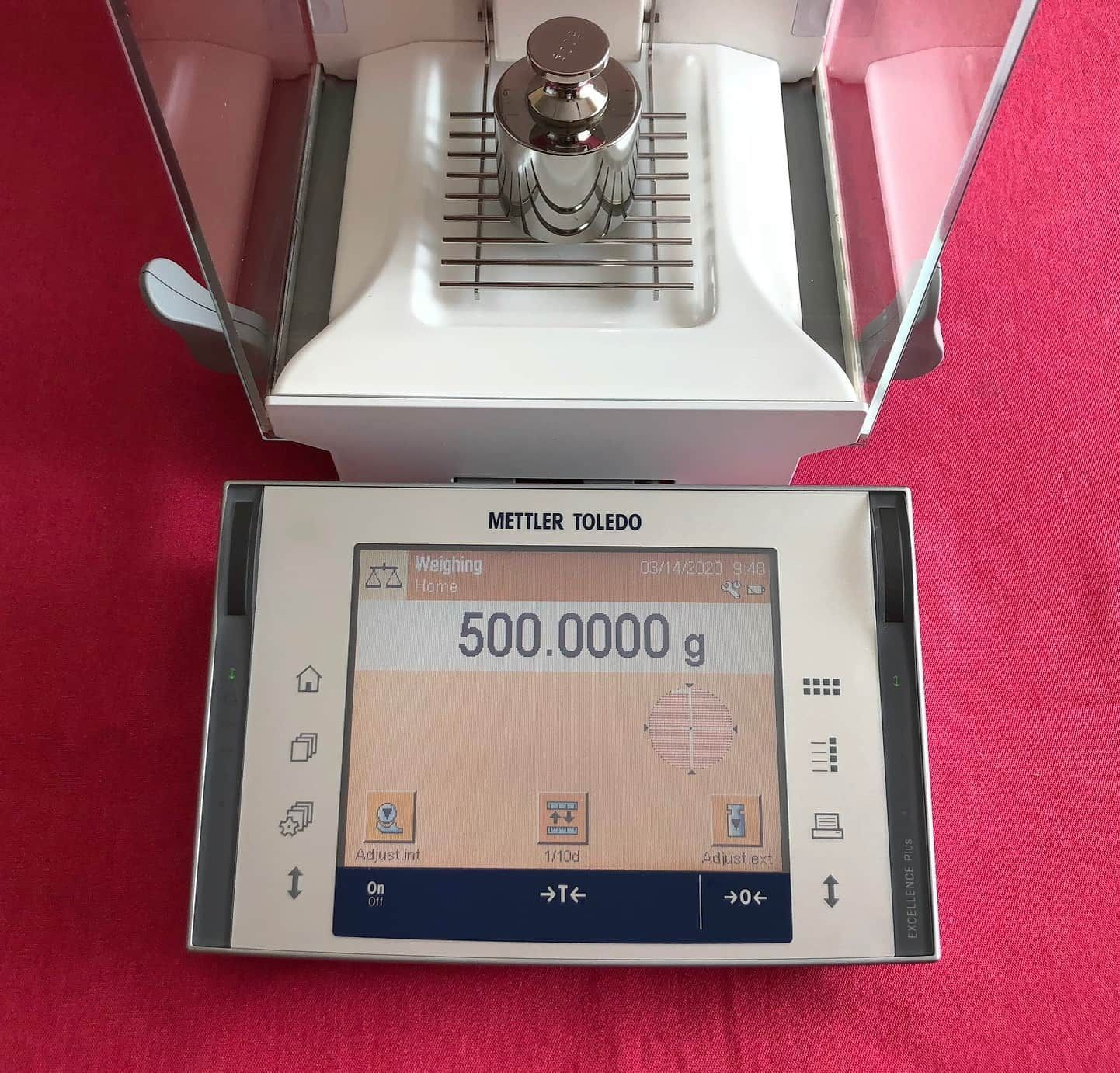 Mettler Toledo XP504 Analytical Balance Scale 520.0000g