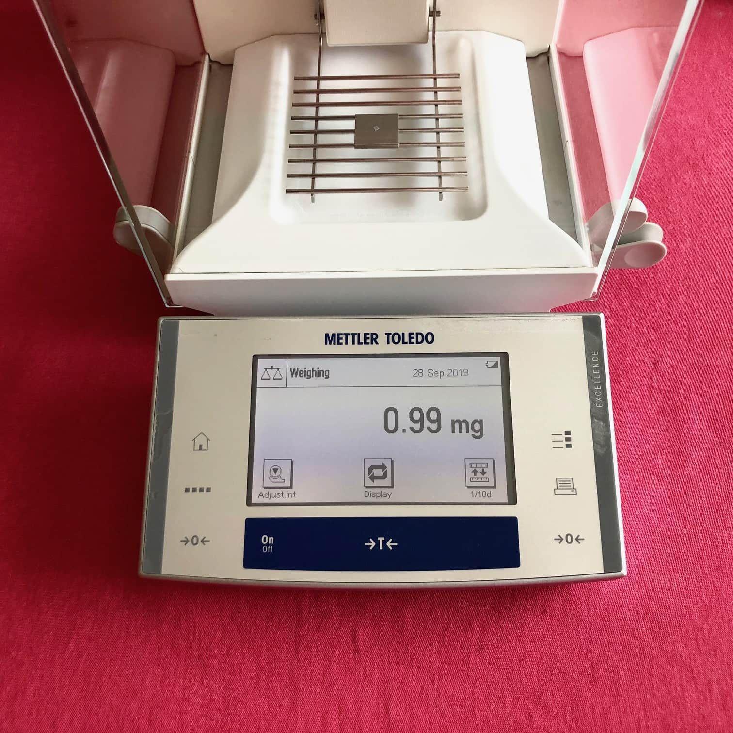 Mettler Toledo XS105 Analytical Balance Scale 41.00000g / 120.0000g