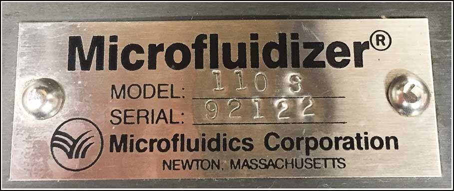 Microfluidics Homogenizer 110 S w WARRANTY
